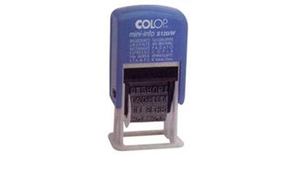 Timbro polinomio Colop 12 diciture 4mm S120W autoinchiostrante S120//W-BLS