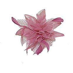 Bride Boutique - Tocado plumas y red (peine), diseño de flor
