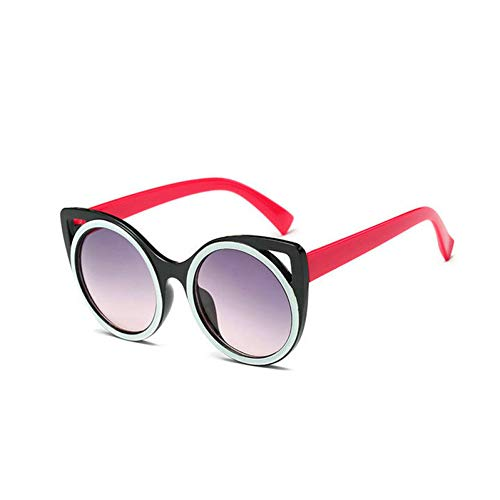 GBST Fashion Heart Sunglasses Women Meatl Hinge Love Shape Round Sun Glasses Men Vintage Couple Eyeglasses Pink Yellow,Black red