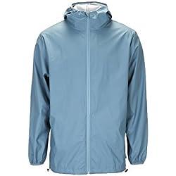 Rains Chaqueta Impermeable Color Azul Pacific Talla Small Para Hombre