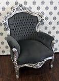 Barock Sessel King Grau/Silber