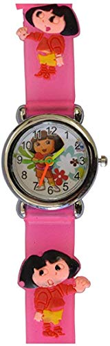 ForeverWithYou Rosa Farbe Digital-Uhr-Karikatur-Armbanduhr Zeit Lehrer Geburtstags-Geschenk 10.03 Jahr Boys & Girls kleine Kind-Karikatur-Muster-Silikon-Band
