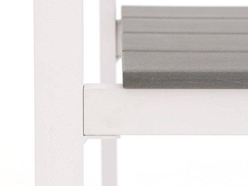 Bellagio Bravo Gartenbank 2 Sitzer 128 cm Weiß - 7