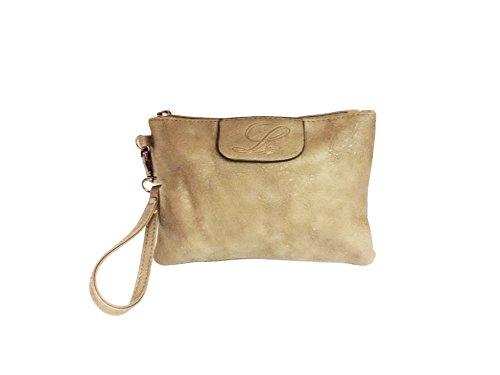 """La Loria borsa intrecciato set 3 pezzi """"Weave"""" tasca, borsa a tracolla, borse a secchiello, borse a spalla, borse a tracolla, borse tote - beige/grigio/taupe Beige Taupe Grigio"""