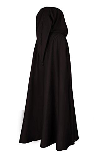Mittelalterlicher Kapuzenumhang mit langer Gugel - schwarz