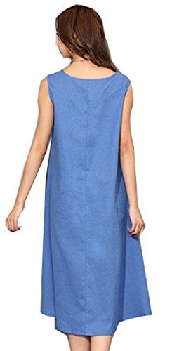 Lacus-UK - Robe - Femme Bleu bleu 68 Bleu