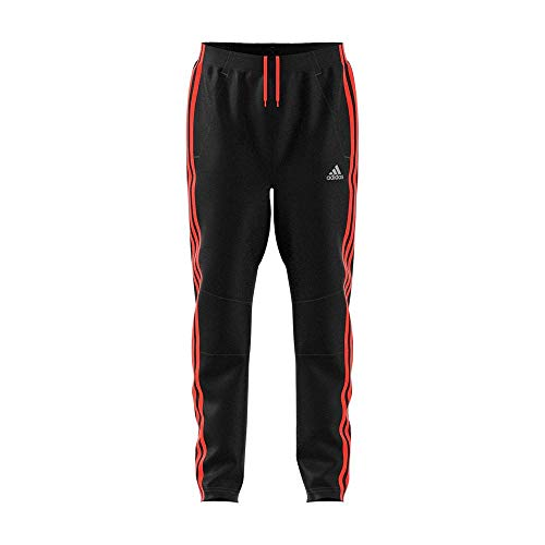 adidas Jungen Football Striker 3 Stripes Hose, Black/Solar Red, 140