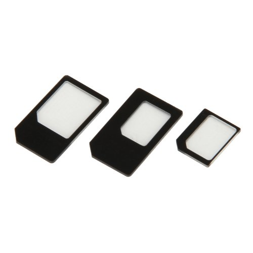 NANO SIM card to Micro / Standard SIM Card Adapter For iPhone 4/4S/5 - Black Test