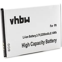 vhbw Li-Ion batería 2200mAh (3.7V) para móvil smartphone teléfono Cubot P9