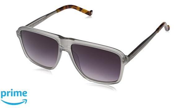 Hackett Bespoke Sunglasses Sonnenbrille HSB868, Grau (Grey), 57