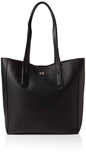 Michael Kors Damen Junie Large Pebbled Leather Tote Schwarz (Black), 12.7x34.2x48.2 cm