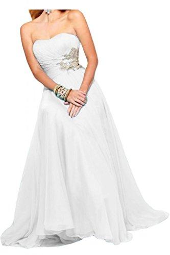 Toscane mariée pages traegerlos chiffon abendkleider-les demoiselles dhonneur party festkleider ball Blanc - blanc