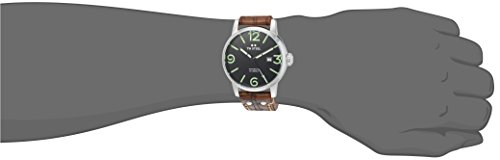 TW-Steel-Maverick-Unisex-Quartz-Watch-with-Black-Dial-Analogue-Display-and-Brown-Leather-Strap