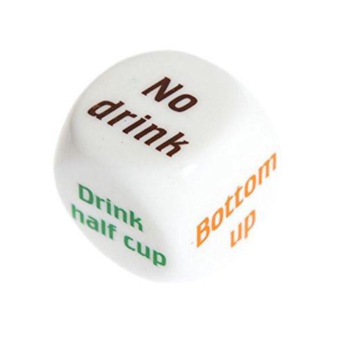 TONVER 1-Würfel mit Wein zu trinken Erwachsenen-Bar, Pub Spaß mit Würfel-Spielzeug, 5cm, plastik, S, 1 Stpck