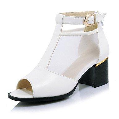 Ch & Tou Femmes-sandales-mariage Formel Décontracté Soirée-pratique-carré-matériaux Personnalisés Faux Cuir Mousseline Paillettes-noir Rose Blanc