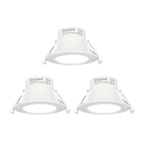 Lamparas Plafones Focos LED Empotrables de Techo 8W Downlight LED Blanco Frio...
