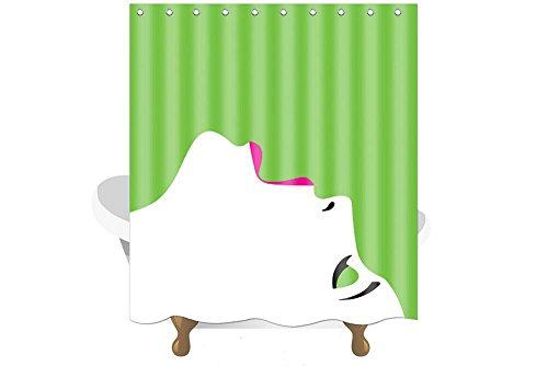 Dekor Sexy Mädchen Frauen Serie Grüner Duschvorhang Grün antibakteriell wasserdicht,150cm * 180cm, inklusive Haken (02 nachschlagen) ()
