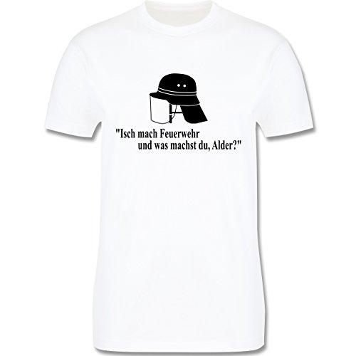 Feuerwehr - Ich mach Feuerwehr und was machst Du - Herren Premium T-Shirt Weiß
