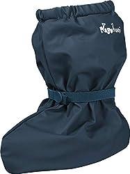 Playshoes Unisex Baby mit Fleece-Futter leichte Krabbel-Schuhe, Blau (marine 11), Small