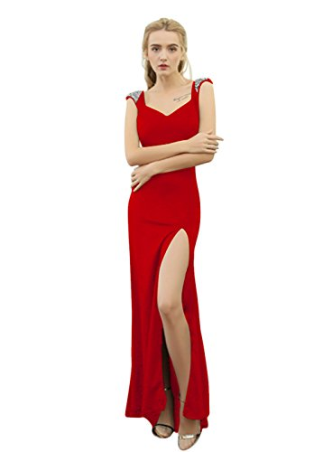 Vimans -  Vestito  - linea ad a - Donna Red