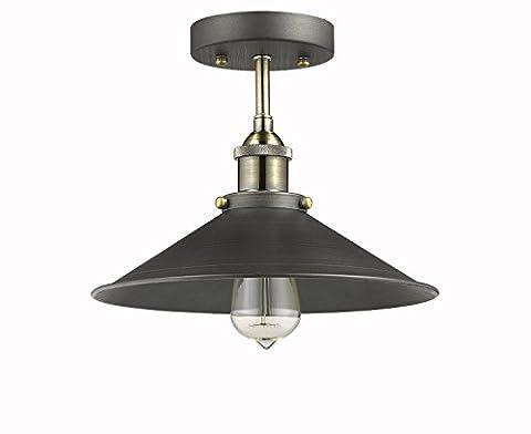 Dazhuan Industrial Vintage Retro Style Pendant Light Metal Hanging Ceiling Light Antique Lamp Aged Steel Lighting Chandelier Size 26cm