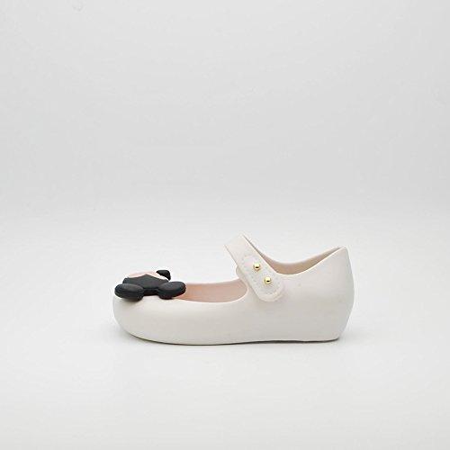 MINI MELISSA -Ballerina bianca in plastica MELFLEX, gomma profumata, di Topolino e Minnie , scarpa Disney, Bambina-25/26
