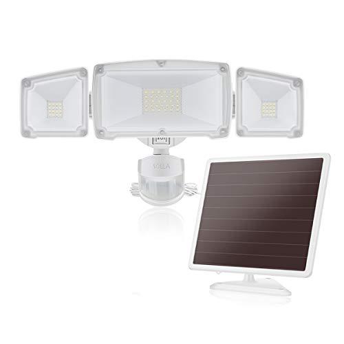 1500LM Solar-LED-Bewegungs-Sensor-Sicherheits-Licht mit 3 justierbaren Lichtköpfen, 5000K, IP65 wasserdichtes Material, perfekt für Gebrauch im Freien wie Eingangswege, Gärten, Garagen usw. -