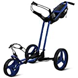 Sun Mountain Pathfinder 3 Wheel Push Golf Trolley Cart Big Sky Blue