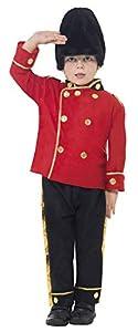 Smiffys-26859S Disfraz de Guardia Alto, con Top, Pantalones y Gorro, Color Rojo, S-Edad 4-6 años (Smiffy
