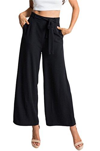 Blansdi Damen Mädchen Frauen Sommer Beiläufig Elegante stilvoll mittlere Taille weites Bein Hosenrock Hosen Hose Hosenrock Gekürzte Hose mit Gürtel