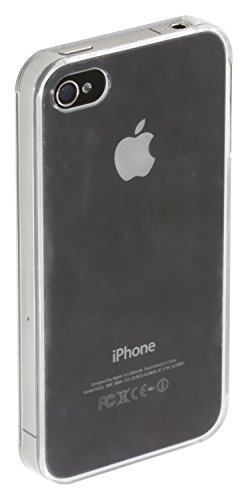 Trendz Hard Shell Clip-On Hülle Schutzhülle Case Cover Schale für iPhone 4/4S - Transparent - Glitter Case 4 Iphone Blauer