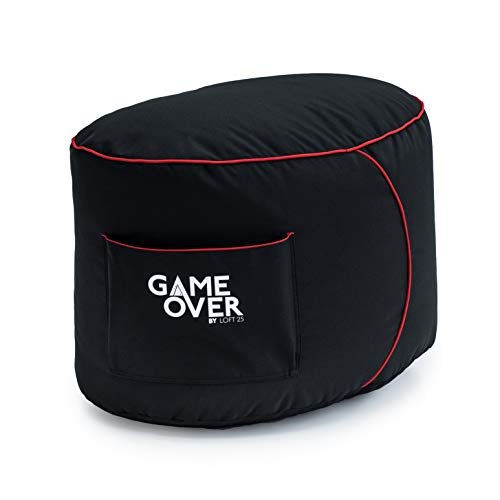 Loft 25® GAME OVER Fire Rune (Rot) Gaming Spielen Sitzsack Fußhocker