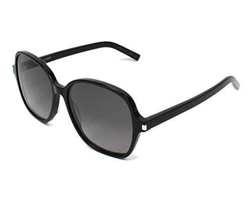 Saint Laurent Damen CLASSIC 8 001 Sonnenbrille, Schwarz (BLACK/GREY), 57