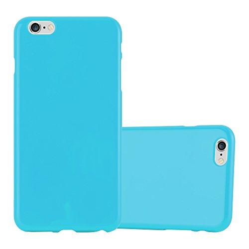 Cadorabo - TPU Ultra Slim Jelly Silikon Hülle für >          Apple iPhone 6 PLUS / 6S PLUS          < - Case Cover Schutz-Hülle Bumper in JELLY-GRÜN JELLY-HELL-BLAU