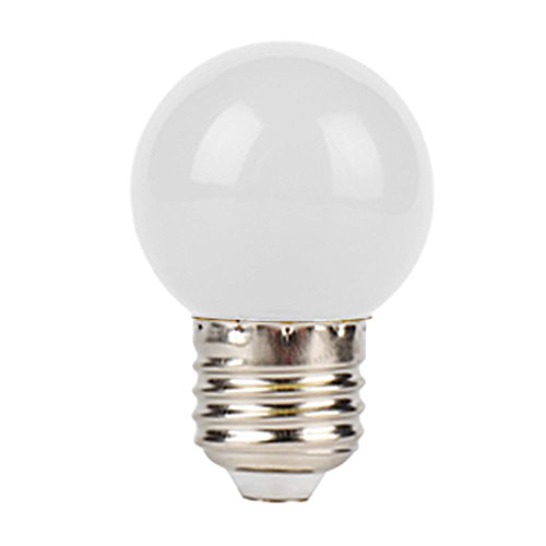 MINI LED Golf Gl¨¹hbirne, Minkoll 1W E27 Gl¨¹hbirne Licht Single Color LED Globe Lampe (wei?) -