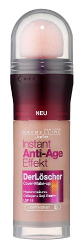 Maybelline New York Instant Anti-Age Effekt Der Löscher Make-Up Light Honey 45, 1 x 20 ml