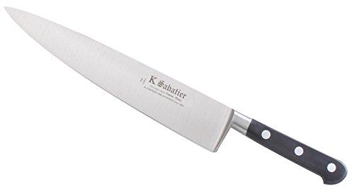 K Sabatier - Cuisine 23 Cm K Sabatier - Gamme Vintage Au Carbone - Acier Carbone - Manche Noir - 100% Forge - Entièrement Fabrique En France