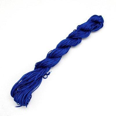 28 m Cordon Nylon pour perles-C0656/1 mm Bleu Cobalt