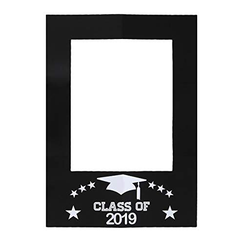 BESTOYARD Klasse von 2019 Papier Bilderrahmen Graduation Photo Booth Picture Frame Herzlichen Glückwunsch Graduation Party Dekorationen für Graduation Party Supplies