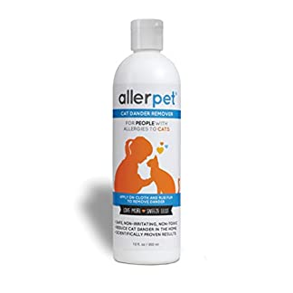 Allerpet Cat Dander Remover, Allergy Relief Solution, 12 oz 12