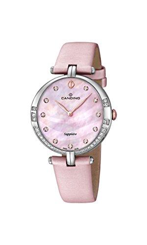 Candino-Orologio da donna al quarzo Con quadrante in madreperla, Display analogico e cinturino in pelle, colore: rosa, C4601/3