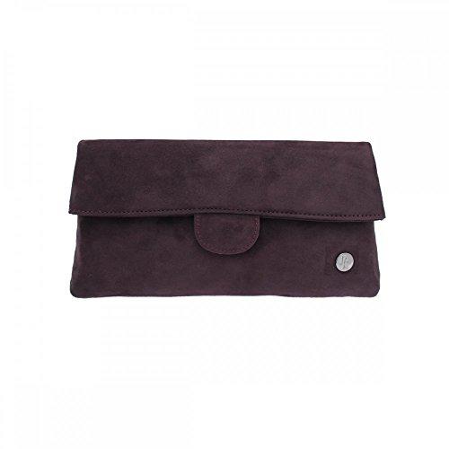 Peter Kaiser Suede Fold Over Handbag Purple Suede