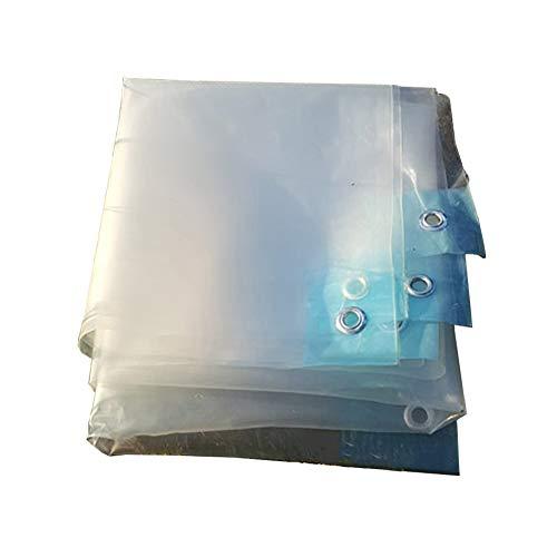 Abdeckplanen Robuste, wasserdichte Klarplane mit Ösen, transparente UV-Schutzabdeckungen für Gewächshausbalkondächer, 100 g/m² (Size : 8×8M)