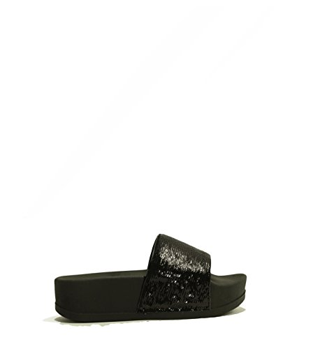 JEFFREY CAMPBELL - LUCKY ME HI SEQUINS Nero