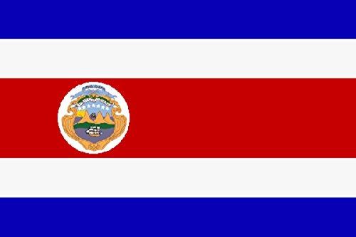 Sonia Originelli Fahne Flagge Länder Städte 90 x 150cm Fußball WM Fan Party Farbe Costa Rica