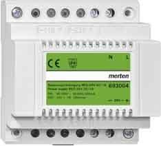 Preisvergleich Produktbild Merten 693004 Spannungsversorgung REG, DC 24 V/1,25 A , lichtgrau
