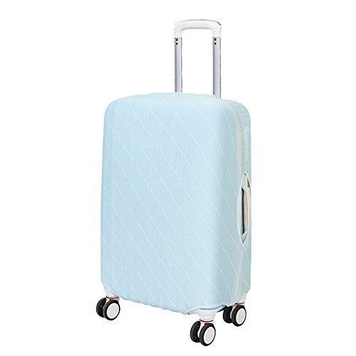 Artone Stripe Spandex Viaggio Protezione Bagagli Bagaglio Copertura Valigia Adatti 18-20 Pollici Bagagli Blu