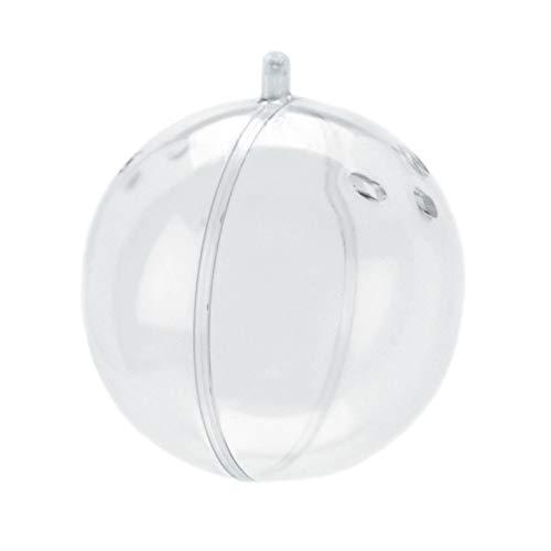 Handwerk Kunststoff Ornament Ball mit Löchern 80mm (12Pieces) 1106-35 ()