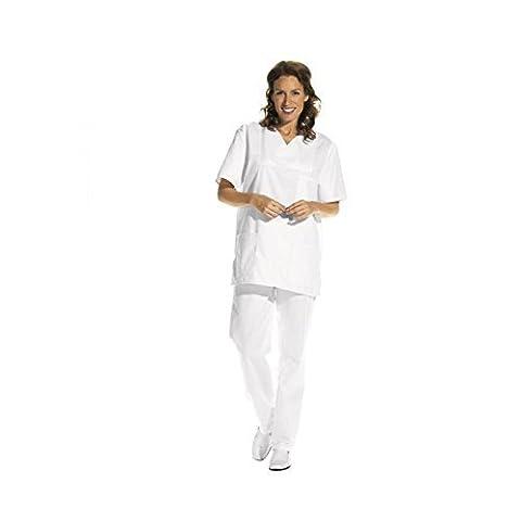 OP-Hose für Damen und Herren ( Pflegebekleidung , Medizin ), Farbe: Weiß (01), Größe: II