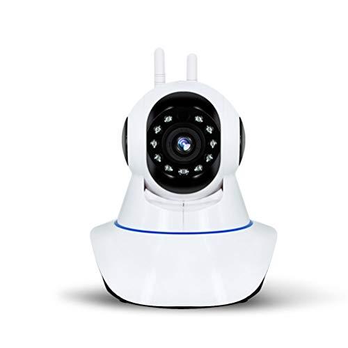 JHSHENGSHI WLAN IP Kamera,1080P WiFi Home Überwachungskamera IP Kamera WiFi mit Bewegungserkennung Nachtsicht 2 Way Audio Schwenk Home Kamera Baby Monitor unterstützt Remote-Alarm und Mobile, White